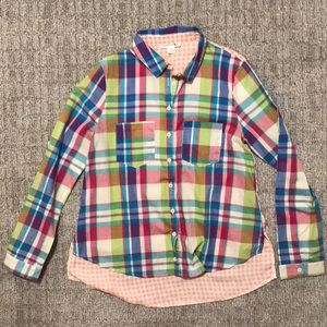 Multi-color high low button up